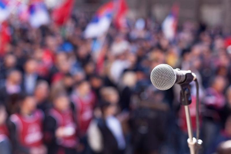 Marietta Square Transformed into Trump Rally for Upcoming Movie